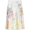 Cotton voile skirt with Venice print - Skirts -