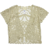 Cream Crochet Top Anna Sui - Coletes -