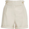 Cream Faux Leather Shorts - Other -