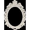 Cream White Open Cut Oval Scatter Frame - Illustrations - $29.99