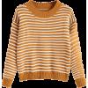 Crew Neck Two Tone Striped Sweater Zaful - Pullovers -