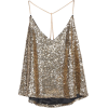 Criss Cross Sequined Cami Top - Tanks -