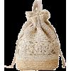 Crochet Straw Backpack - Carteras -