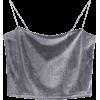Cropped Velvet Tank Top - Majice bez rukava -