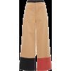 Cropped Color-Blocked Pants - Spodnie Capri -