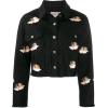 Cropped Denim Jacket with Angels - Jacket - coats -