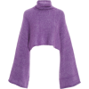 Cropped Mohair-Blend Turtleneck - Pullover -