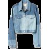 Cropped Patchwork Denim Jacket - Jacket - coats -