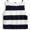Cropped rugby-striped tank top - Camisas sin mangas -