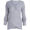 Cross Wrap Front knit sweater - Pulôver - $29.99  ~ 25.76€