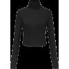 Cross strap backless long sleeve knit t- - Shirts - $25.99  ~ £19.75