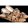 Cross-strap sandals in leopard calf hair - Sandalias -