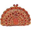 Crystal Peacock Clutch Evening Bag - Clutch bags -