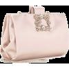 Crystal-Embellished Satin Clutch - Clutch bags - $1,100.00