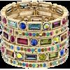Crystal Gold Tone Stretch - Bracelets - $29.99
