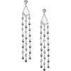 Curve and Disc Drop Earrings - Aretes -