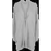 Curved Collar Cashmere Cardigan - Veste -
