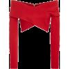 Cushnie Et Ochs Issa Cross Crop Top red - Long sleeves shirts - $745.00