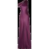 Cushnie One-shoulder draped silk-satin - Vestidos -