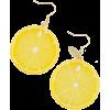 Cut lemon earrings - Uhani -