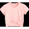 Cute Twist Tied Top - Pink - Majice - kratke - $14.49  ~ 92,05kn