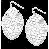 Cutout Leaf Earrings-Silver - Earrings - $12.00