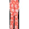 DELPOZO Floral-Jacquard Slim-Leg Pants - Pantaloni capri -