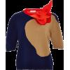 DELPOZO Flower Applique Merino Wool Pull - Pullovers -