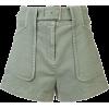 DEREK LAM 10 CROSBY Belted Stretch Chino - 短裤 -