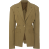 DEVEAUX green crepe jacket - Jacken und Mäntel -