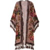 DEVORÉ log embroidered open coat - Jacket - coats -