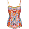 D&G Printed Bustier One Piece Swimsuit - Swimsuit -
