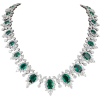 DIAMOND SCENE emerald and diamond - Ogrlice -
