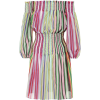 DIANE VON FURSTENBERG Striped cotton and - sukienki -
