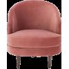 DISTINCTLY HOME pink velvet chair - Uncategorized -