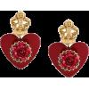 DOLCE & GABBANA, resin earrings - Aretes -