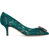 DOLCE & GABBANA Crystal-embellished lace - Classic shoes & Pumps - £595.00