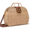 DOLCE DG AMORE BAG IN WICKER AND COWHIDE - Messenger bags -