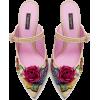 DOLCE & GABBANA BRAIDED RAFFIA MULES WIT - Classic shoes & Pumps -