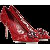 DOLCE & GABBANA Belluci embellished lace - Klasični čevlji -