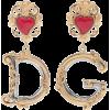 DOLCE & GABBANA Clip-on drop earrings - Aretes -