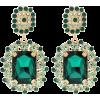 DOLCE & GABBANA Crystal-embellished clip - Brincos -