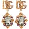 DOLCE & GABBANA Crystal-embellished clip - Earrings -
