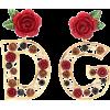 DOLCE & GABBANA Crystal-embellished earr - Earrings -