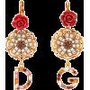 DOLCE & GABBANA  Crystal-embellished flo - Ohrringe -