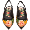 DOLCE & GABBANA  Crystal-embellished flo - Balerinki -