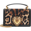 DOLCE & GABBANA Devotion leopard shoulde - Carteras -