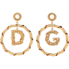 DOLCE & GABBANA Embellished clip-on hoop - Earrings -