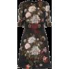DOLCE & GABBANA Embellished floral jacqu - Платья -