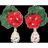 DOLCE & GABBANA Floral clip-on drop earr - Earrings -